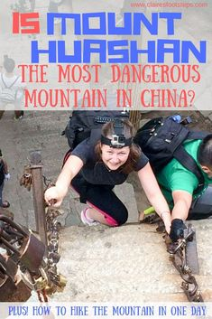 Mount Huashan has a name for being the most dangerous mountain in China. I…