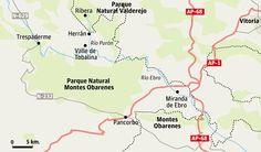 Medios: Excursión por el desfiladero del río Purón Excursión por el desfiladero del río Purón   Una antigua calzada cruza un espectacular desfiladero y comunica el pueblo de Herrán, en el burgalés valle de Tobalina, con el despoblado de Ribera, en Valderejo