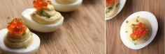 Perfect deviled eggs.  Also the best method for boiling eggs.  Julia Child's method.