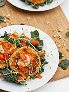 Pumpkin White Bean and Quinoa Veggie Burgers -- #Gluten-Free #DairyFree #Vegan
