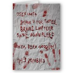 zombies christmas wish
