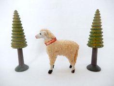 vintage stick leg sheep Germany antique by vintagebyclaudine