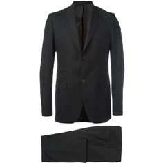 Givenchy Two Piece Suit ($1,820) ❤ liked on Polyvore featuring men's fashion, men's clothing, men's suits, givenchy mens clothing, mens tailored suits, mens wool suits, mens two piece suits and men's 2 piece suits