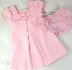 Carter's Girls Light Pink Panty Dress Size 12 months Easter Wedding Elegant #Carters #DressyHoliday #pinkeasterdress