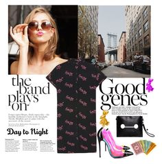 """Day to Night."" by statisticam ❤ liked on Polyvore featuring Christian Louboutin and Lazy Oaf"