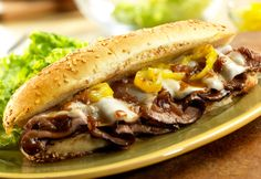 In less than 15 minutes, you can put together these mouthwatering, restaurant-style sandwiches that get a kick from banana peppers and cheesy goodness from melted provolone. We Love this sandwich and I LOVE how quick and easy it is to make.