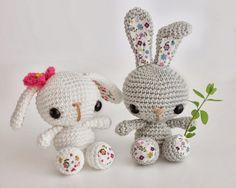 Amigurumi conejitos de primavera (enlace a patrón)