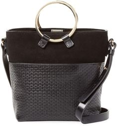 6a5606e3d6 Halston Heritage Women s Textured Leather Bucket Bag  handbags   designerhandbags  texturedbag