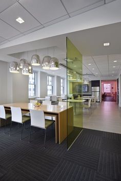 Pressed Glass partitions from 3Form add color and creativity to the modern interior