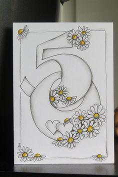New Wedding Card Gratulation Lettering Ideas Tarjetas Diy, Birthday Cartoon, Art Carte, Bday Cards, 50 Birthday Cards, Special Birthday Cards, Fifty Birthday, Karten Diy, Birthday Numbers