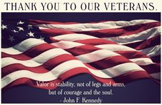 Thank you and God Bless you Veterans.... Every Day!