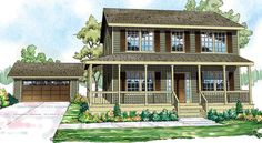 Cottage   Country   Florida   Saltbox   Traditional   House Plan 60913