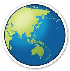 Earth Globe Asia Australia