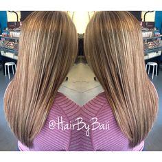 Partial highlight. Dimension. Aveda color. Hair.