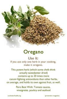 Cooking with oregano
