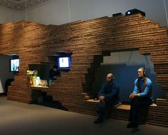 Exhibition Architect,The Jewish Museum, NYC, The Display Canyon, Cardboard Wall