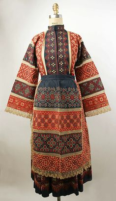 Non-Western Historical Fashion – Ensemble century Russia Historical Costume, Historical Clothing, Folk Costume, Costumes, Style Russe, Costume Ethnique, Vintage Outfits, Vintage Fashion, Style Ethnique