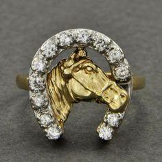 Lucky Horseshoe Diamond Ring | Perry's Fine Antique & Estate Jewelry
