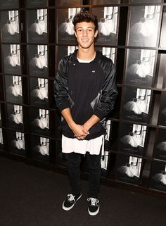 Cameron Dallas   Must-See Star Styles from Spring 2016 New York Fashion Week