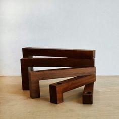Candelero de madera