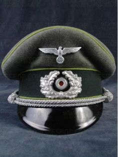 c24f8090baf Replica of Heer Panzer Grenadier Officer Peak Visor Cap Ww2 Uniforms