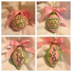 Alpha Kappa Alpha Christmas ornaments