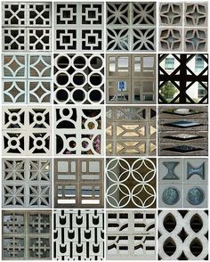 Mid century modern concrete block patterns.