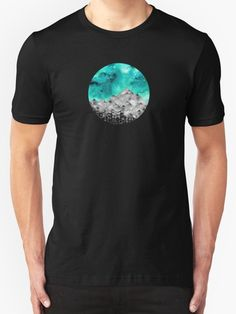 Forgotten Spaces  by amayabrydon Nature inspired watercolor sky and mountains @redbubble #art #design #space #sky #mountains #galaxy #stars #redbubble #nature #nature addict #watercolor #sphere #circle #tshirt #apparel