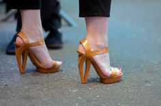 In my dreams, I imagine rockin' all kinds of badass high heels like these... in reality, not so much.