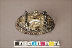 Viking age bronze oval brooch. Uppland, Sweden.