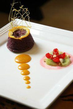 Gateau individuel assiette gourmande art pâtisserie souffle
