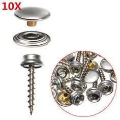 10Pcs Canvas Rapid Fixed Screws Buttons Buckles Stainless Steel Canvas Snap Fastener