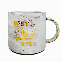 Vilight Dad Mug Gifts for Father's Day and Birthday - Best Dad Ever Marble Ceramic Coffee Cup Father Birthday Gifts, Gifts For Father, Best Dad Gifts, Cool Gifts, Specials Today, Cute Box, Dad Mug, Gold Marble, Feeling Special