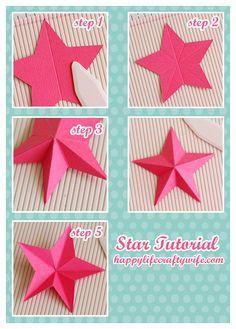 Tutorial 3D estrella al anotar el hecho de papel