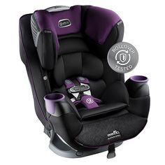 With the new-age technology of the Evenflo Platinum SafeMax All-In-One Car Seat in Madalynn styling, your little one will have the ultimate protection in the event of a crash. The harness webbing and other safety features keep your child safe and snug in his or her seat, keeping unwanted movement limited. With the OUTLAST Performance Fabric, your child's body temperature will be regulated, and the up-front harness and reclining adjusters allow simple comfort alterations.