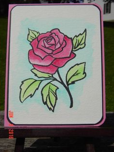 F4A328 ~ Watercolor Rose