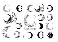 2013 New Tattoo sticker,D-112 moon design tattoo sticker, 100pcs  Wholesale ,Free shipping