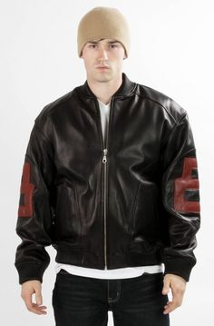 Mens 8-Ball Leather Jacket