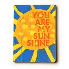 Sun  You Are My Sunshine  30 x 40 wooden sign wall von lisaweedn, $218.00