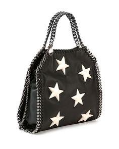 Falabella Mini Star Shoulder Bag, Black