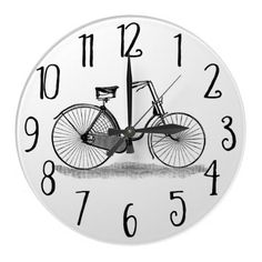 Vintage Ladies Bicycle Wall Clock