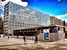 """Paris, France. The building """"Institut du Monde Arabe"""" designed by Architect Jean…"""