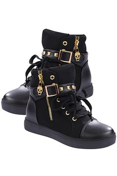 Buy HengSong Vogue Sport Boots Zipper Buckle Rivet Sneakers (Black) online at Lazada. Discount prices and promotional sale on all. Free Shipping.