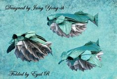 25 Excellent Origami Fish Just for the Halibut Fish Model, Deep Sea Creatures, Origami Fish, Foil Paper, Halibut, Fish Design, Awesome, Origami Books, Painting