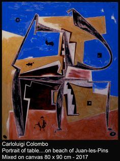 art, table, paintings, Juan-les-Pins, riolo terme, italy, cote d'azur, Carloluigi Colombo, Faenza,,arte, pittura, esorinismo