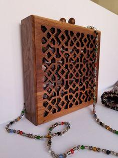 Handbag Women accessories Wooden Handbag Gift for her Wooden Purse, Women Accessories, Fashion Accessories, Unique Handbags, Bracelet Crafts, Vintage Purses, Shoulder Handbags, Evening Bags, Gifts For Her