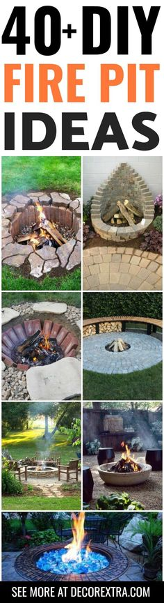 DIY Fire Pits: 40+ Amazing DIY Outdoor Fire Pit Ideas You Must See - DIY Backyard Ideas