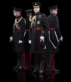 Prince William, The Duke of Cambridge dressed in his Irish Guards frock coat.
