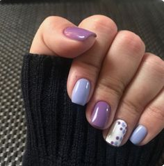 Nail art Christmas - the festive spirit on the nails. Over 70 creative ideas and tutorials - My Nails Manicure Colors, Gel Manicure, Nail Colors, Manicure Ideas, Gel Nail, Purple Manicure, Nail Tips, Short Nail Designs, Nail Designs Spring