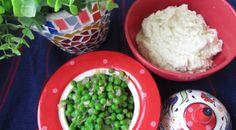 Cauliflower mash and Italian peas Mashed Cauliflower, Side Dishes, Grains, Rice, Cooking, Food, Baking Center, Side Plates, Kochen